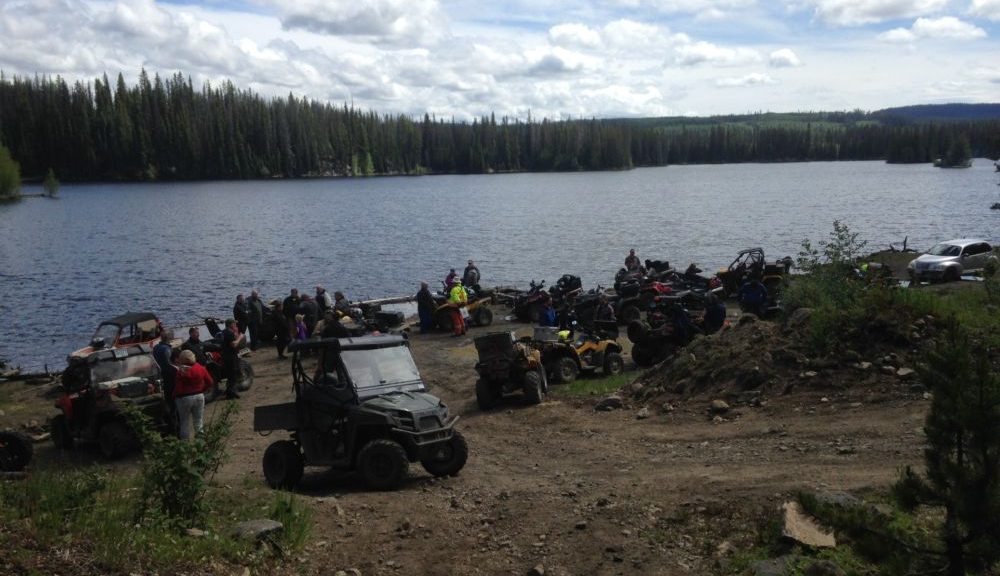 Vernon ATV Club ride with Kelowna ATV Club on Aberdeen Plateau